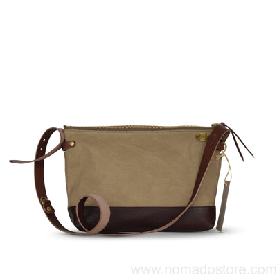 The Superior Labor Leather Bottom Shoulder Bag Large (7 colours) - NOMADO Store