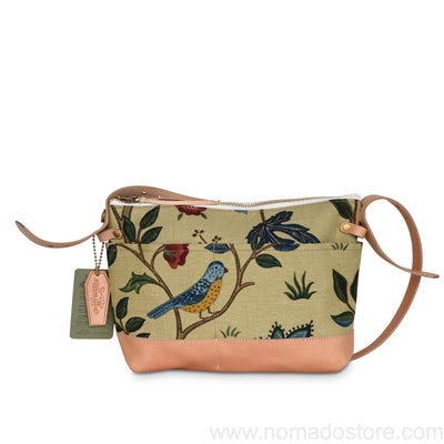 The Superior Labor William Morris Shoulder Bag Bird Pattern (2 sizes) - NOMADO Store