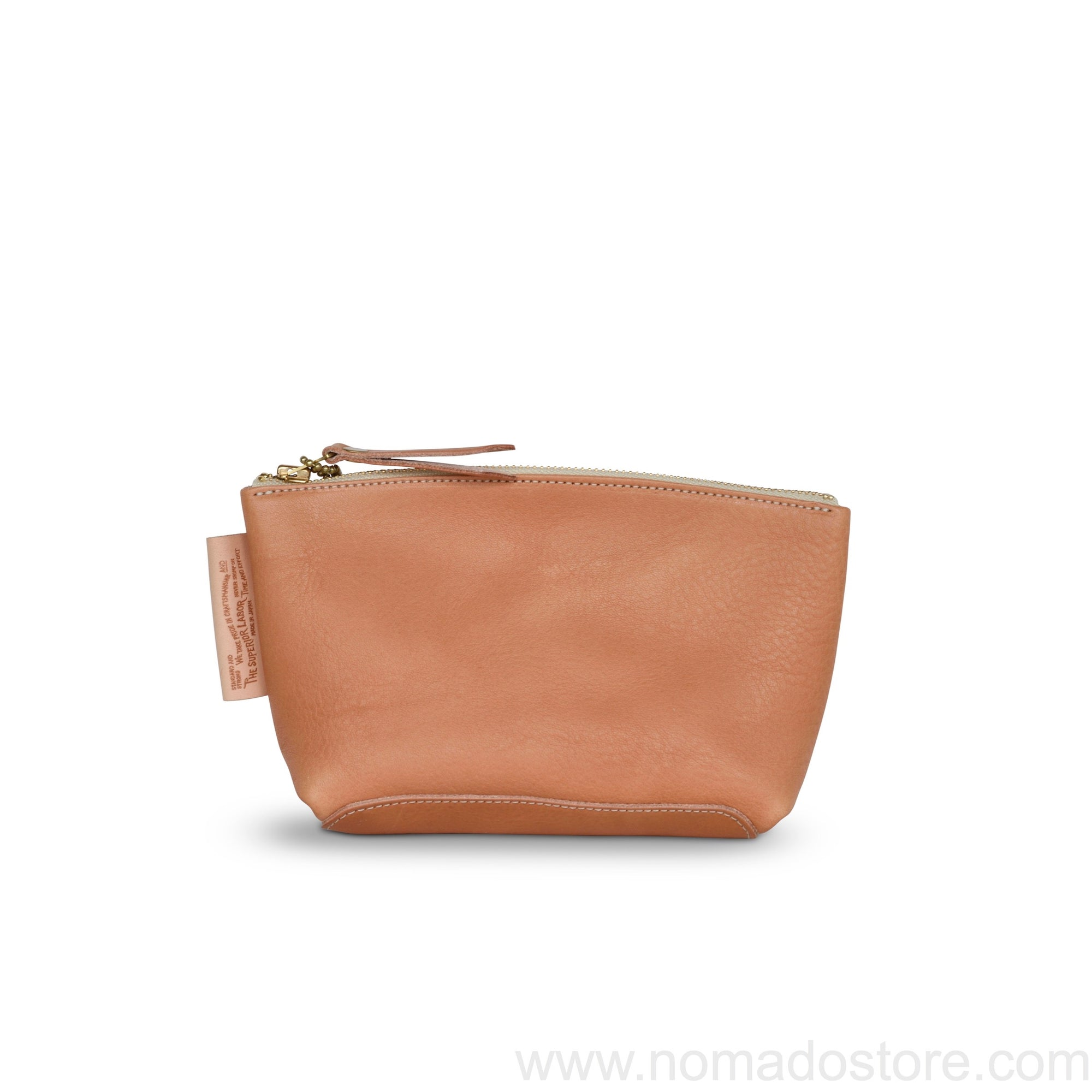 The Superior Labor new leather pouch Size L (natural, light brown, black) - NOMADO Store