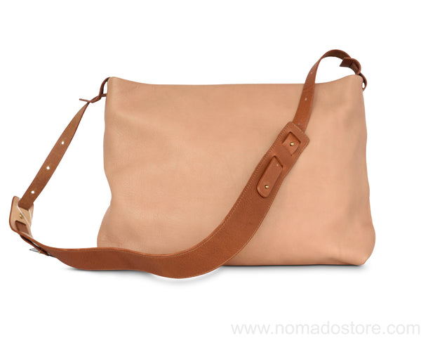 .urukust Leather Shoulder Bag S Beige Brown