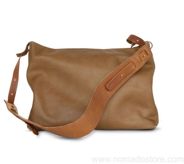 .urukust Leather Shoulder Bag S Oak