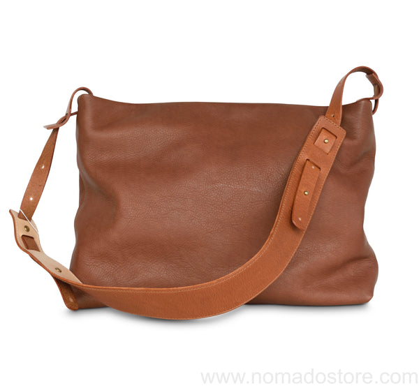 .urukust Leather Shoulder Bag S Brown