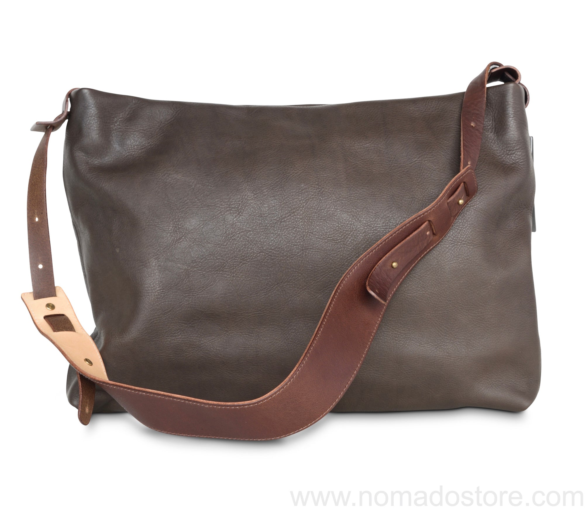 .urukust Leather Shoulder Bag L Dark Brown - NOMADO Store