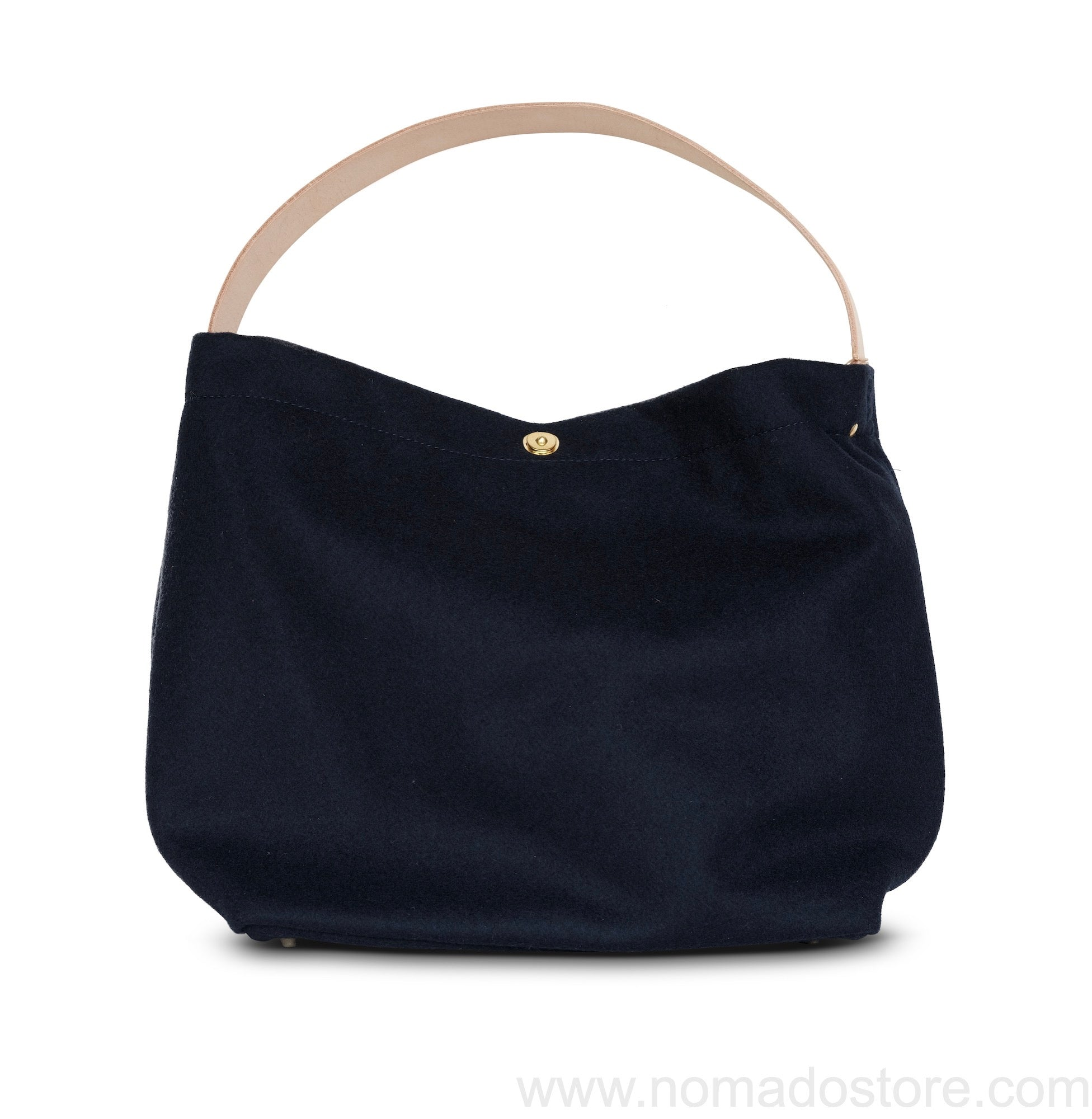 Marineday Minifish Melton Wool Shoulder Bag (Navy)