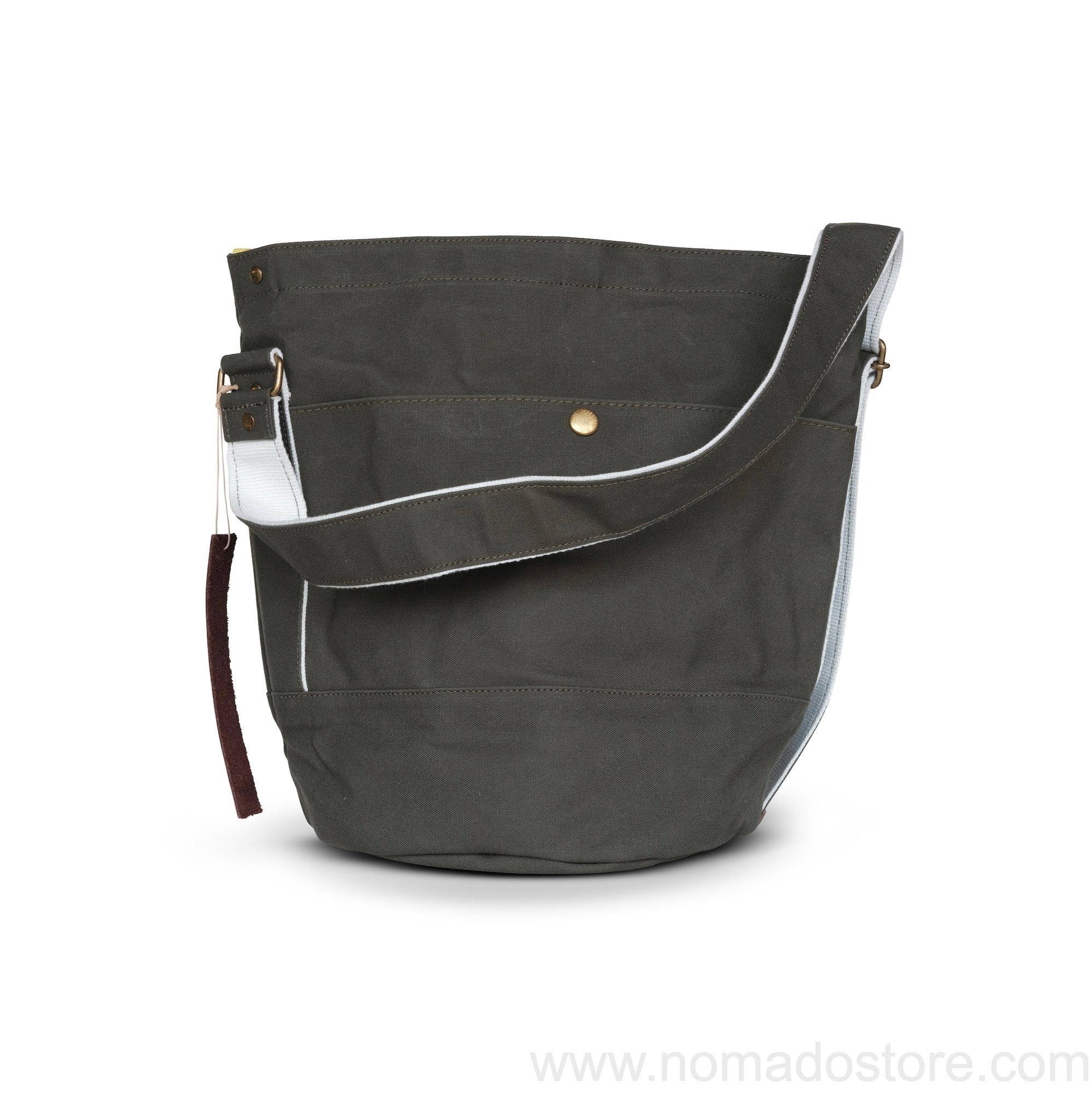 Marineday Roots Bucket Shoulder Bag (Khaki) - NOMADO Store