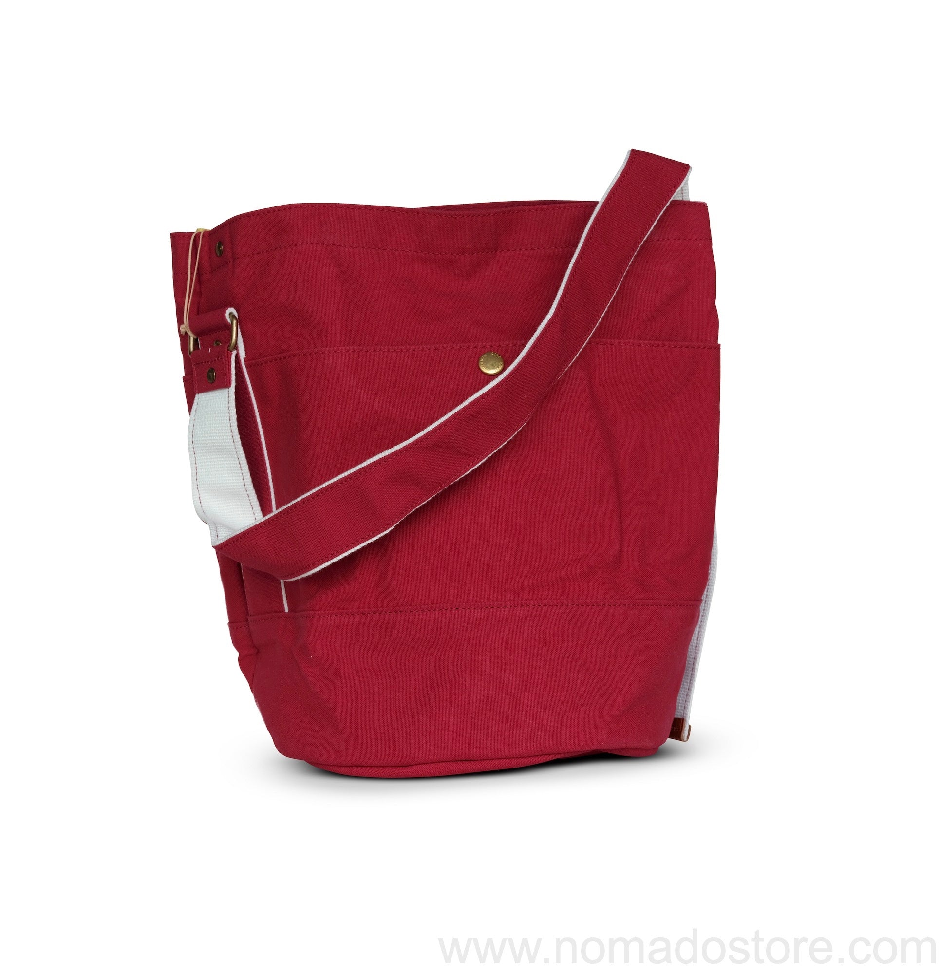 Marineday Roots Bucket Shoulder Bag (Red)