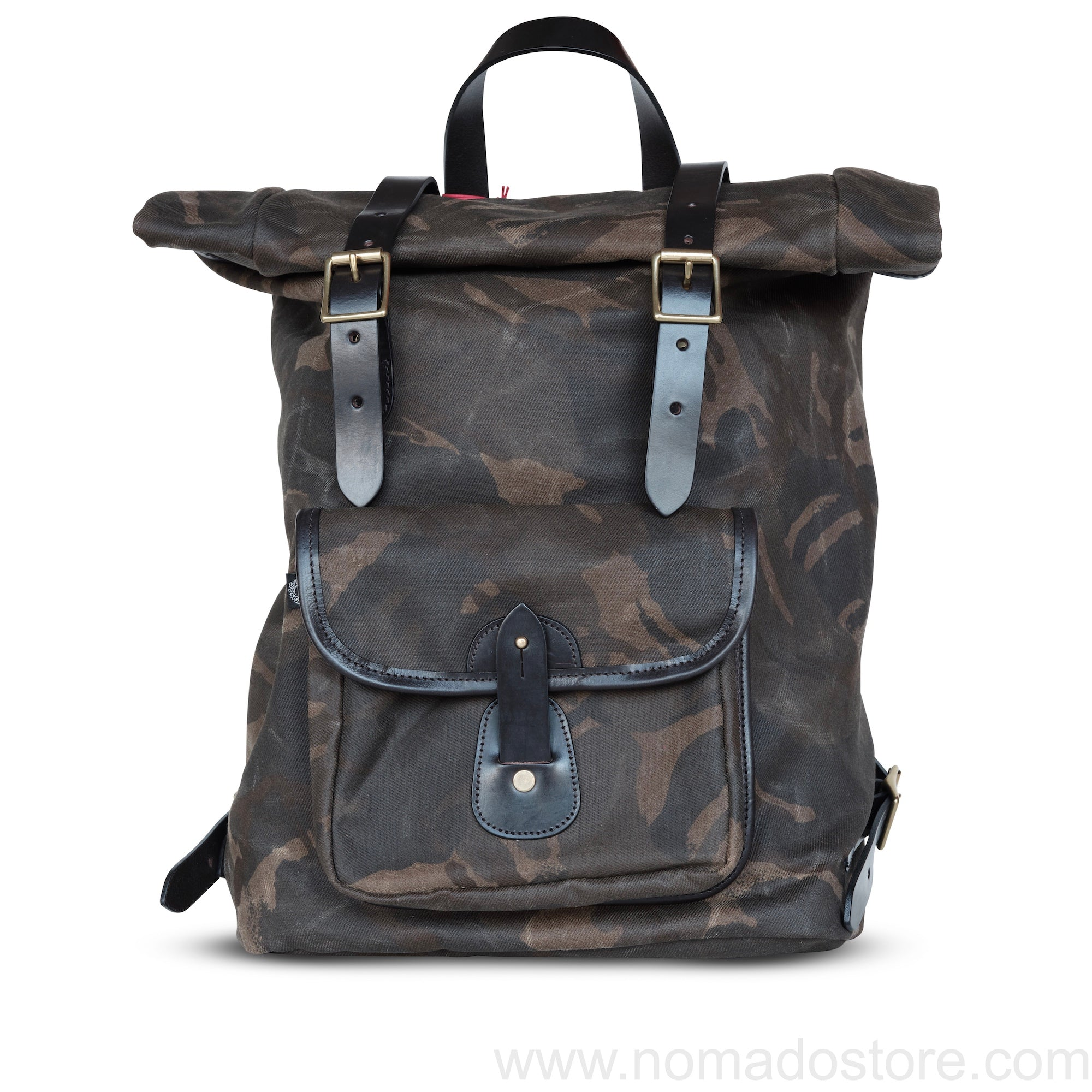 CROOTS WAXED CANVAS CAMOUFLAGE ROLL TOP BACKPACK - NOMADO Store
