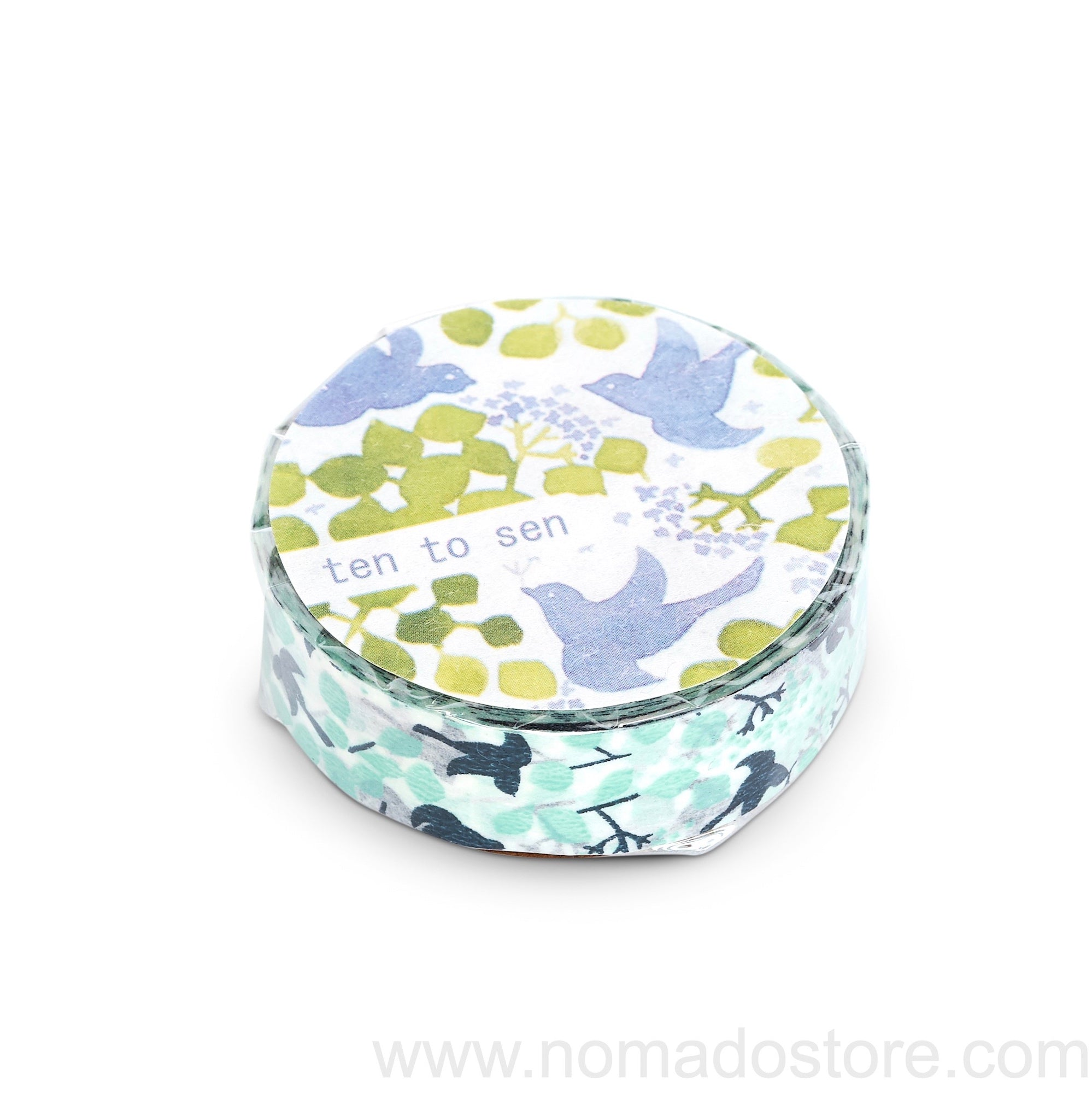Classiky Message Bird Masking Tape 1 piece pack (Blue) - NOMADO Store
