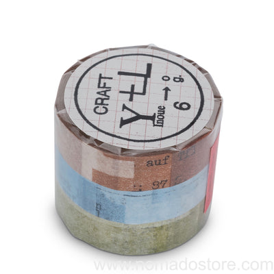 Classiky Collage Masking Tape 3 colors set - NOMADO Store