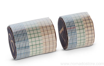 Classiky Grid 12mm Masking Tape 3 colours set (12mm or 18mm) - NOMADO Store