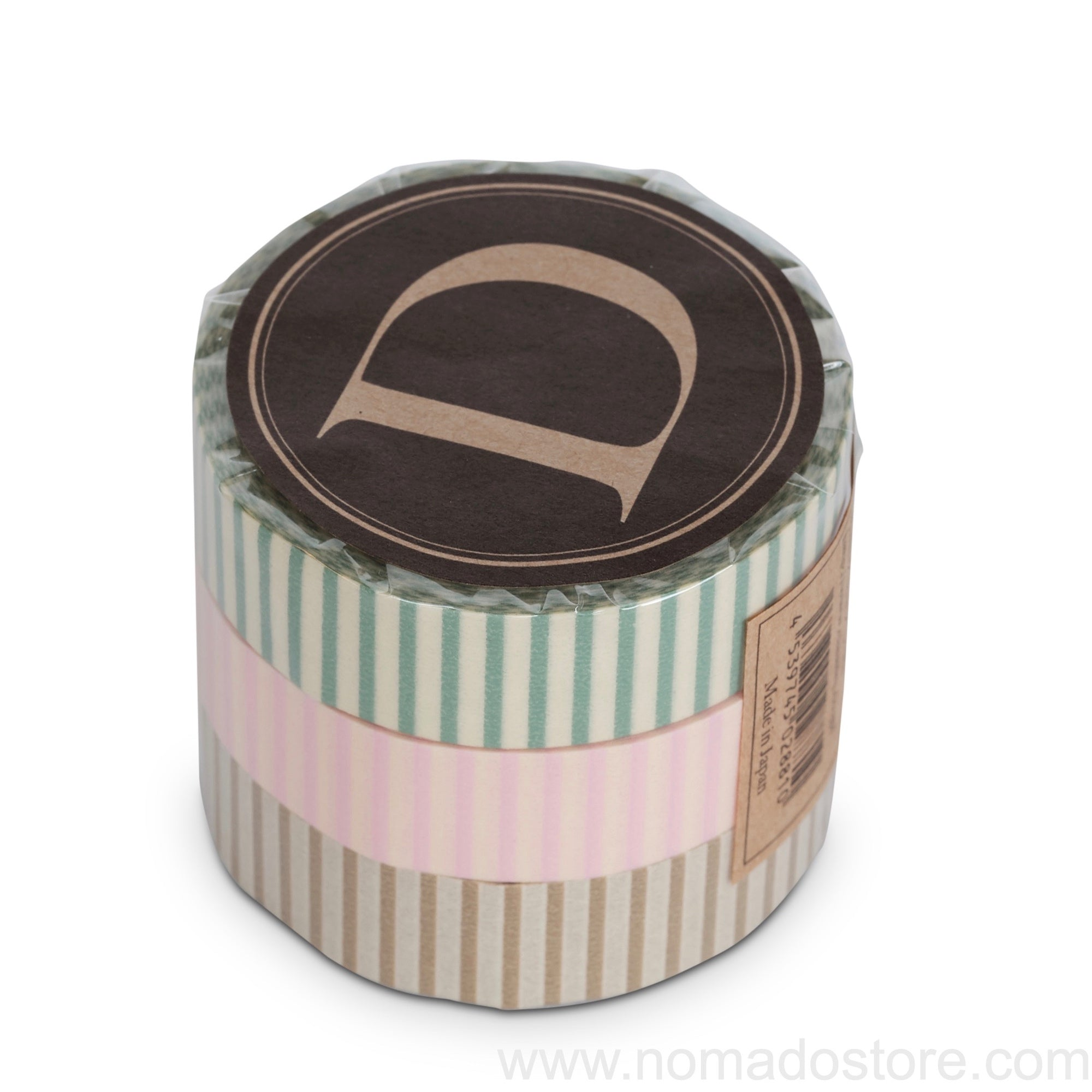Classiky Stripe Dots Masking Tape 3 colors set - NOMADO Store