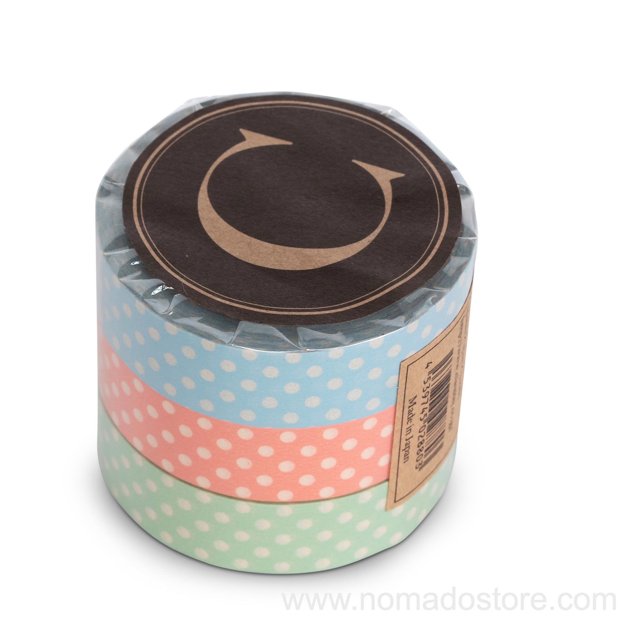Classiky Dots Masking Tape 3 colors set - NOMADO Store