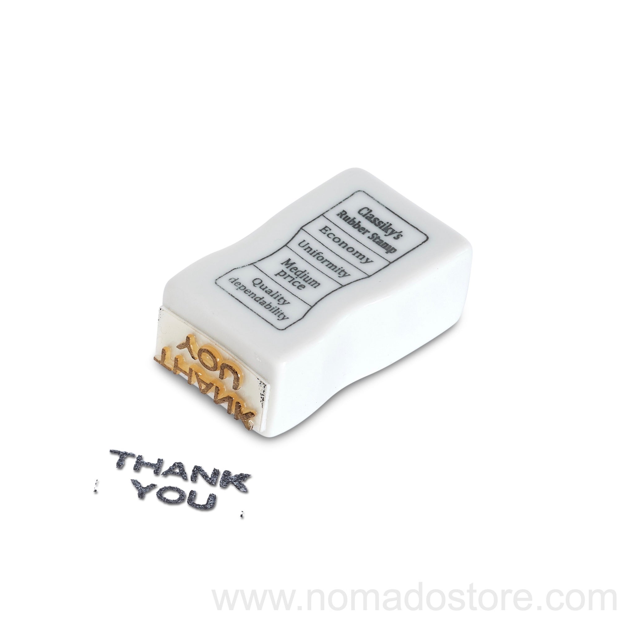 Classiky Porcelain stamp (THANK YOU). - NOMADO Store