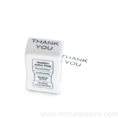 Classiky Porcelain stamp (THANK YOU).