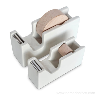 Classiky tape dispenser (White porcelain) S or M - NOMADO Store