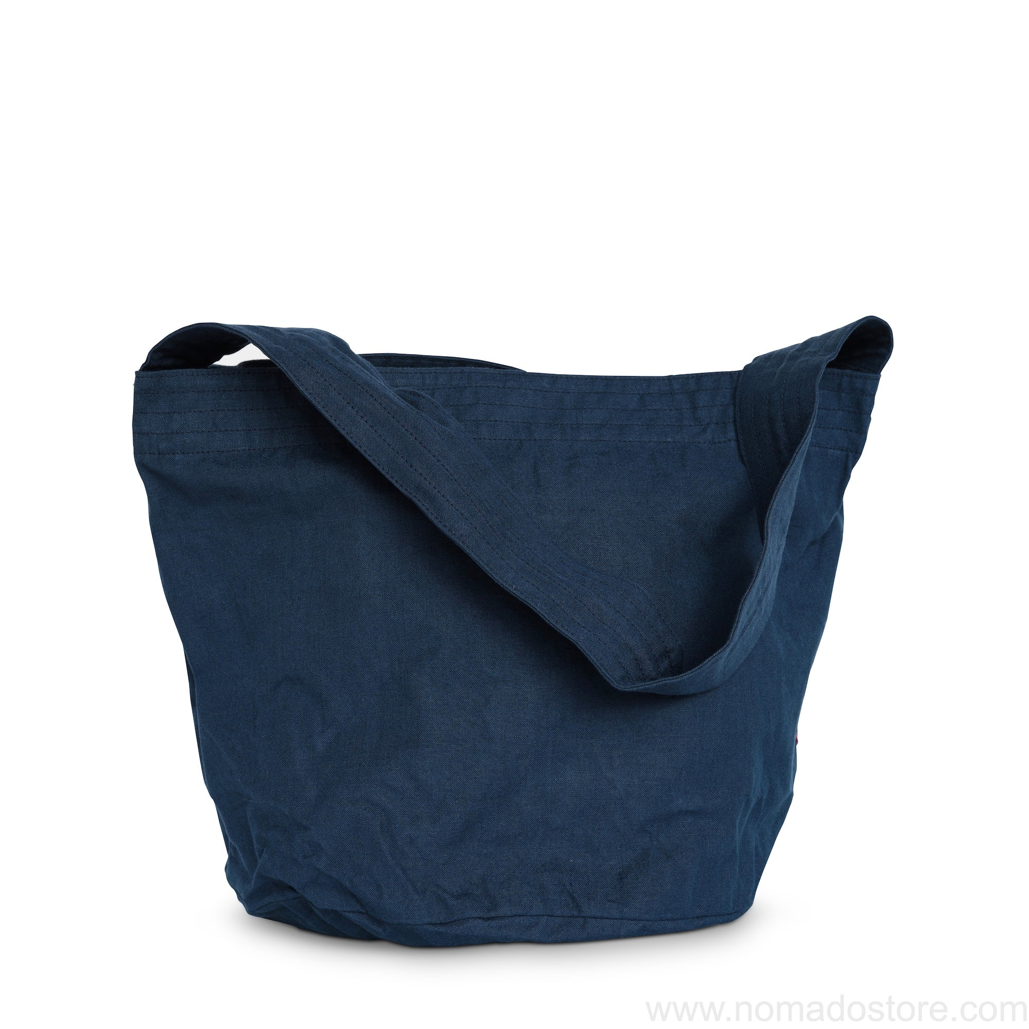Classiky Linen one shoulder tote bag L (indigo blue) - NOMADO Store