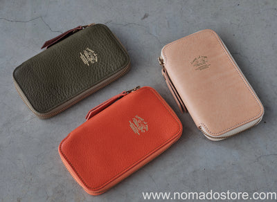 The Superior Labor Leather Zip Pen Case (5 colours) - NOMADO Store