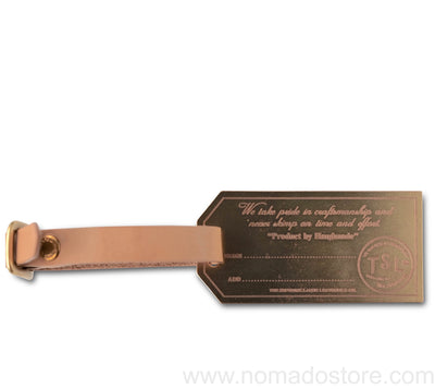 The Superior Labor x Nomado Store Brass Luggage Tag - NOMADO Store