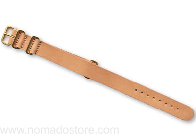Superior Labor NATO type luxury leather watch strap, solid brass fittings (5 colours)