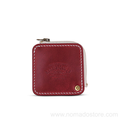 Nanala Design Leather Mini Zip Coin Case (3 colours) - NOMADO Store