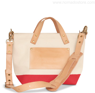 The Superior Labor Engineer Bag Mini (natural/red or navy) Pre Order - NOMADO Store