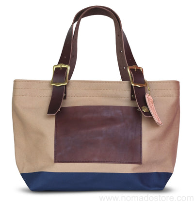 The Superior Labor Engineer Tote bag S beige body navy paint - NOMADO Store