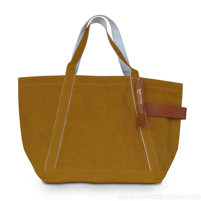Marineday Tender Canvas Tote Bag (Mustard) - NOMADO Store