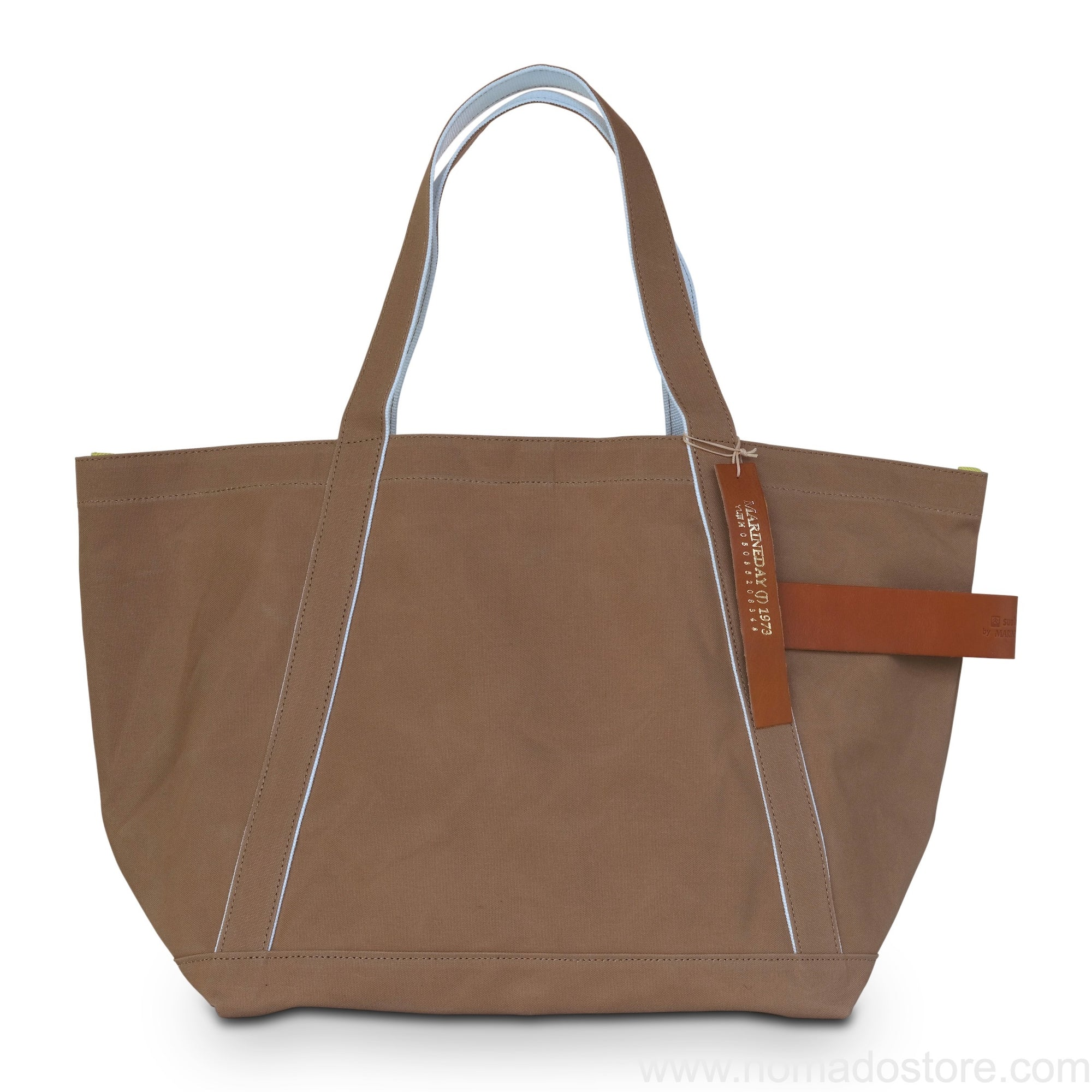 Marineday Tender Canvas Tote Bag (Moca) - NOMADO Store