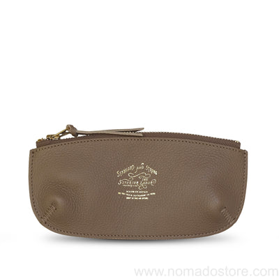The Superior Labor zipped pen case Taupe or Blue