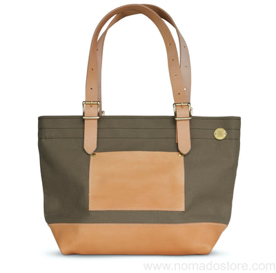 Superior Labor x Nomado Store Engineer Tote Bag Compact SE (khaki/leather)