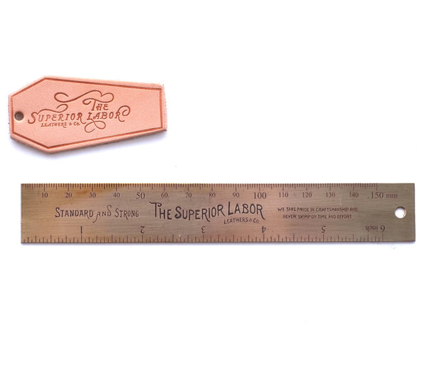 The Superior Labor 15cm Brass Ruler - NOMADO Store
