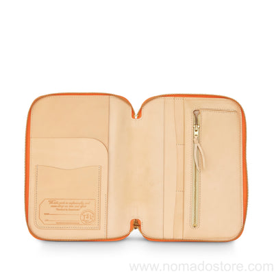 The Superior Labor Leather Zip Organizer (3 colours) AW19 - NOMADO Store