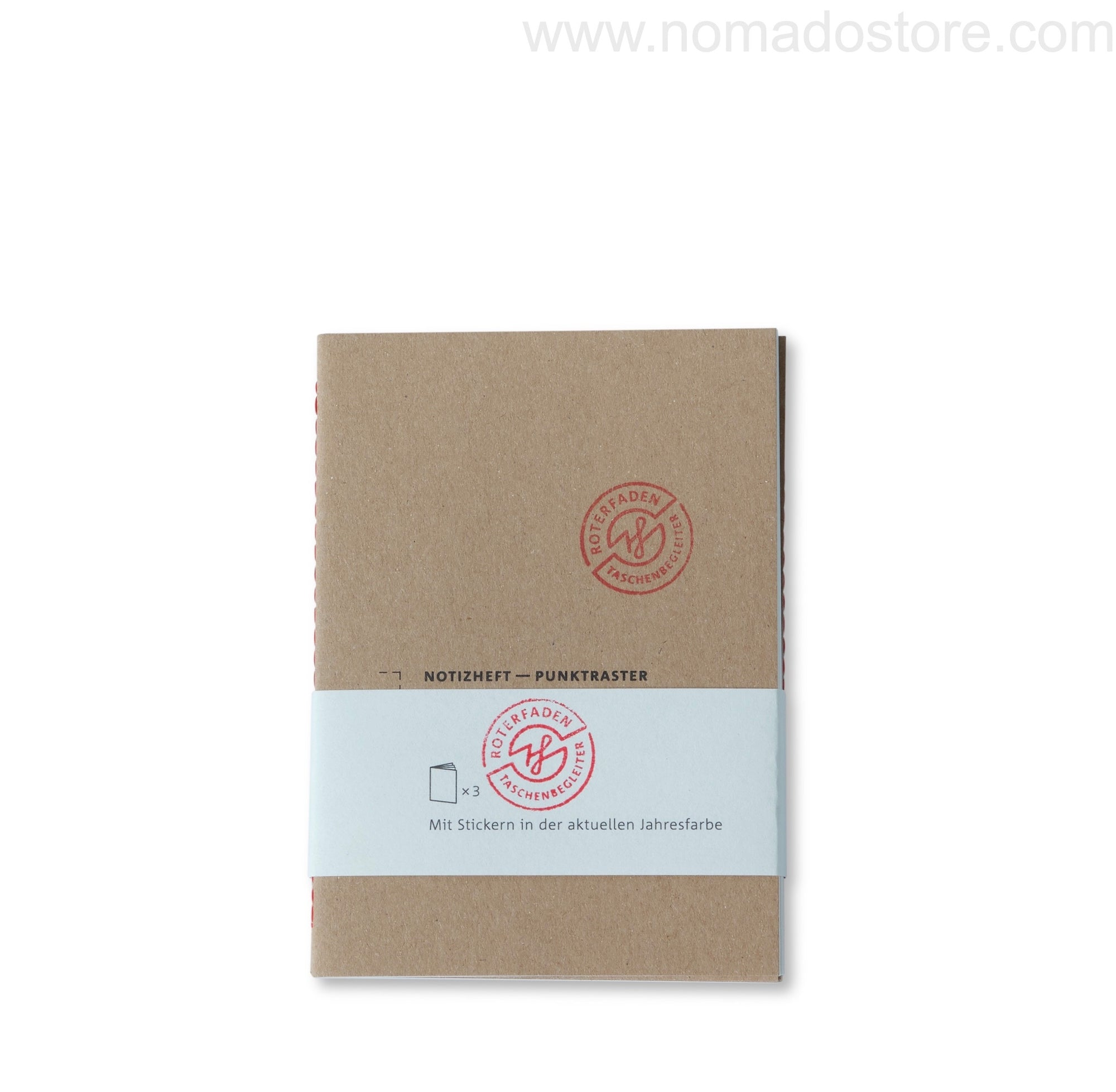 Roterfaden Smaller A6 Note Booklets -3-pack/dot grid (10x14cm) - NOMADO Store