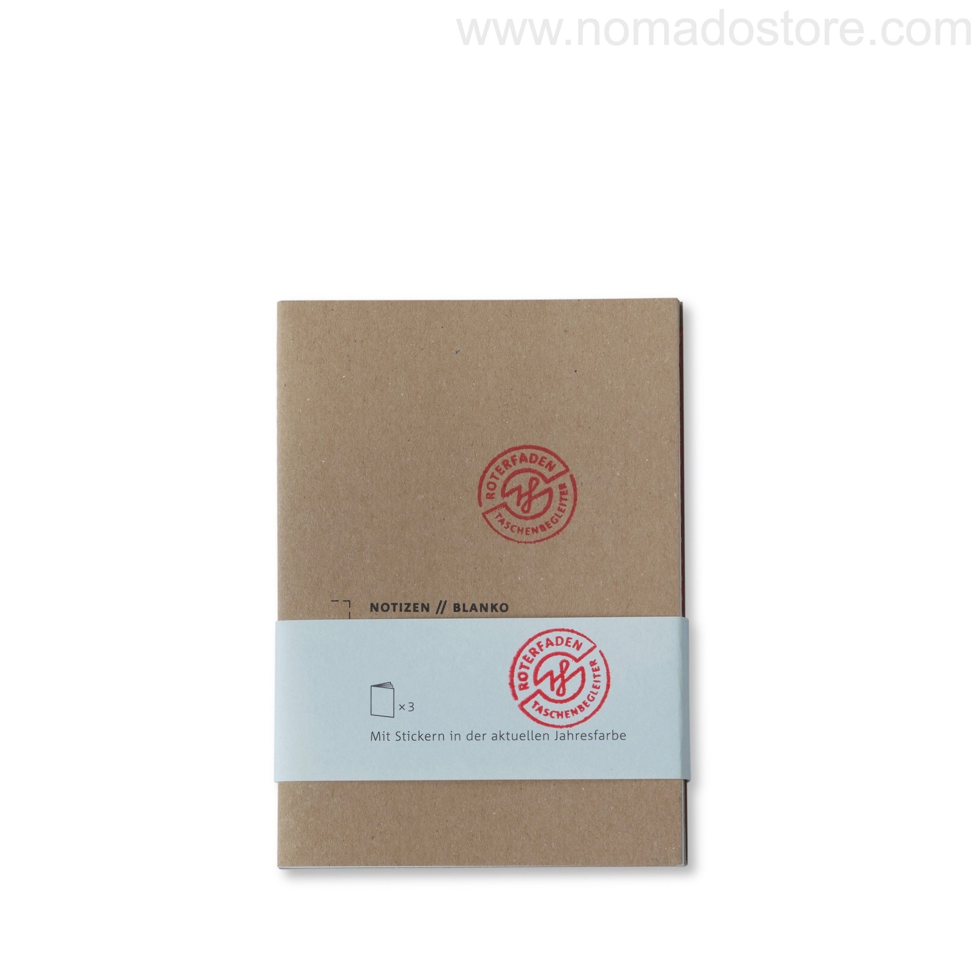 Roterfaden Smaller A6 Note Booklets -3-pack/blank (10x14cm)