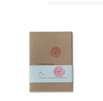 Roterfaden Smaller A6 Note Booklets -3-pack/blank (10x14cm) - NOMADO Store