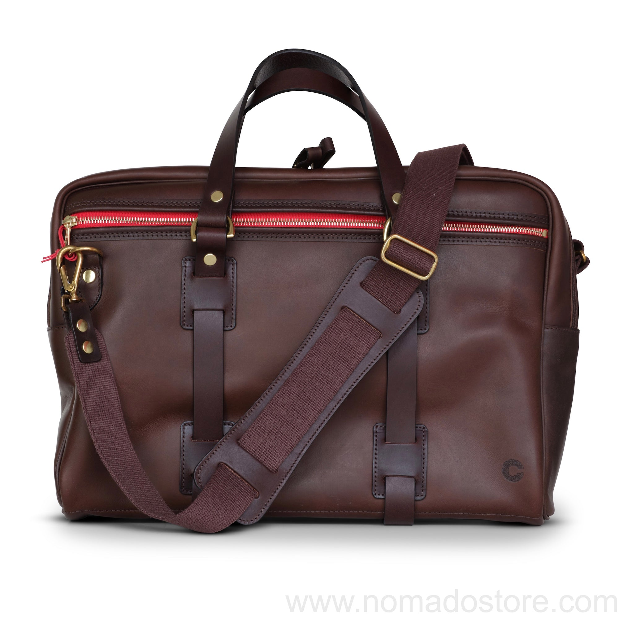 CROOTS VINTAGE LEATHER LAPTOP BAG (Dark Brown) - NOMADO Store