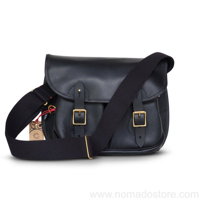 CROOTS DALBY VINTAGE LEATHER CARRYALL BAG (M) (Black) - NOMADO Store