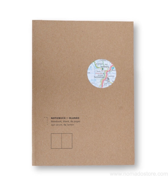 "Roterfaden Smaller A5 ""Maps Edition"" Blank Notebook (14x20cm)"