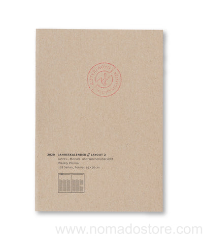 Roterfaden Smaller A5 2020 Diary (14x20cm) 2 Layouts - NOMADO Store