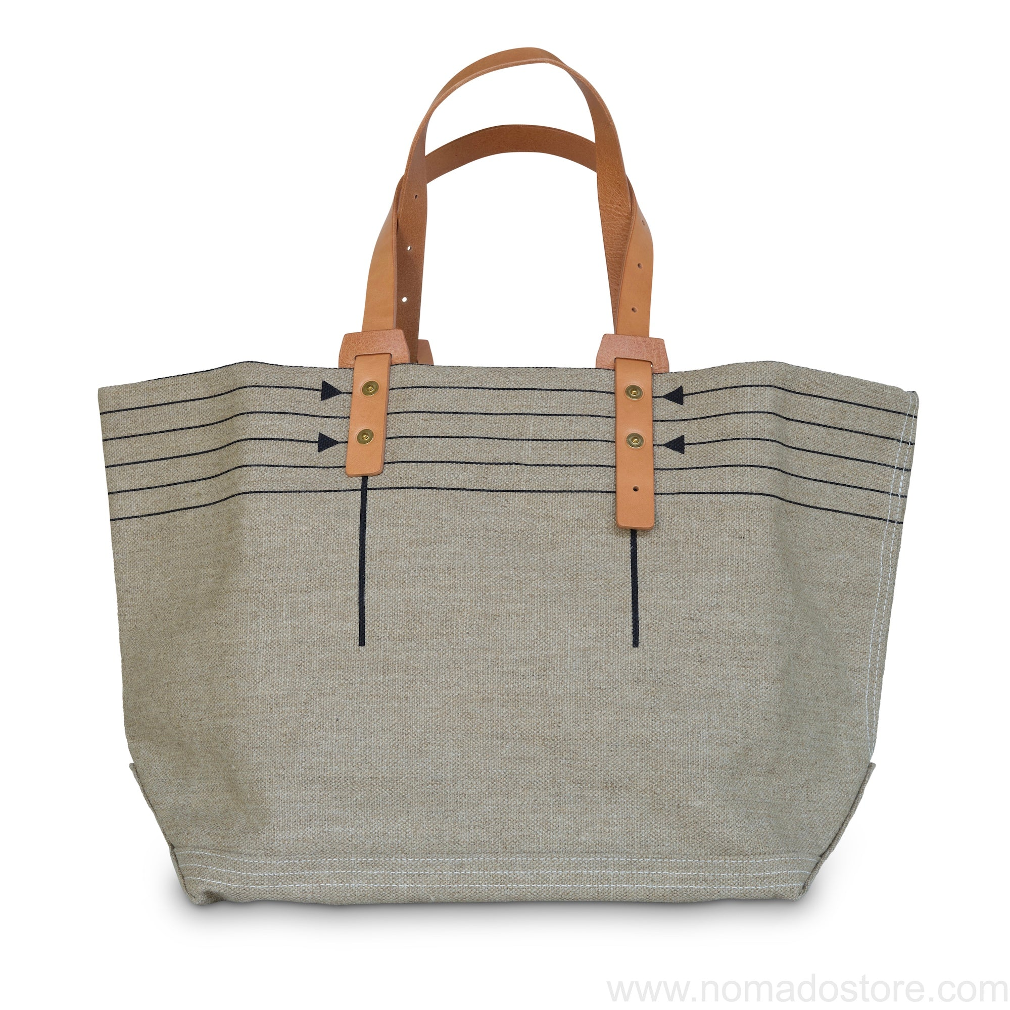 .urukust Canvas Tote Bag M (Natural/Black) - NOMADO Store