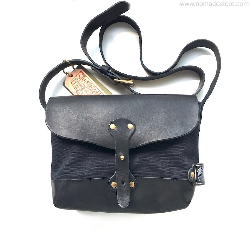 The Superior Labor Paint Small Shoulder bag Ltd. black, leather bottom. - NOMADO Store