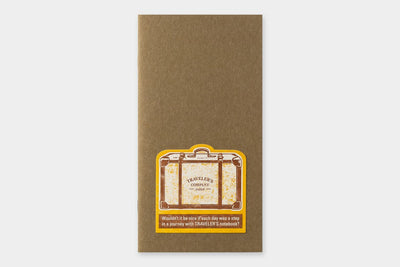 TRAVELER'S LTD Edition - Travel Tools - Letterpress Sticker YELLOW - NOMADO Store