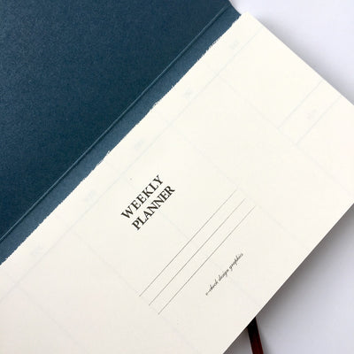 O'Check Design Graphics Weekly Planner Pad (2 colours) - NOMADO Store