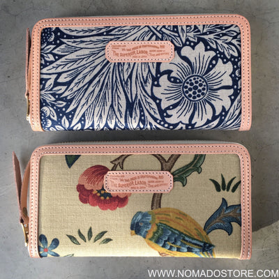 The Superior Labor William Morris Long Zip Wallet (2 patterns) - NOMADO Store