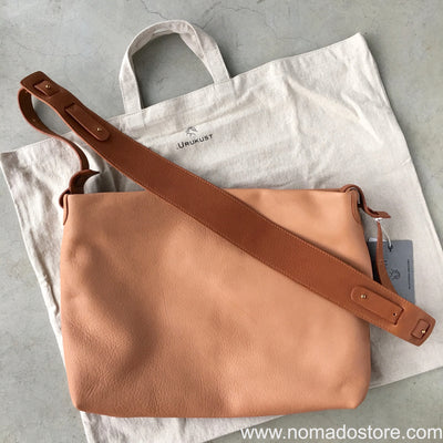 .urukust Leather Shoulder Bag S Beige Brown - NOMADO Store