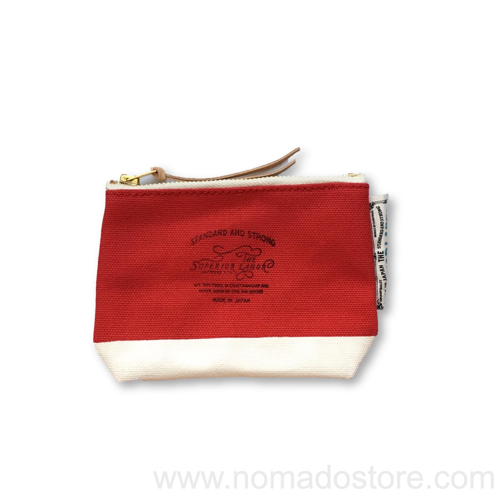 The Superior Labor Engineer pouch red canvas, white paint - NOMADO Store