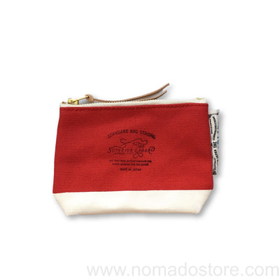 The Superior Labor Engineer pouch red canvas, white paint