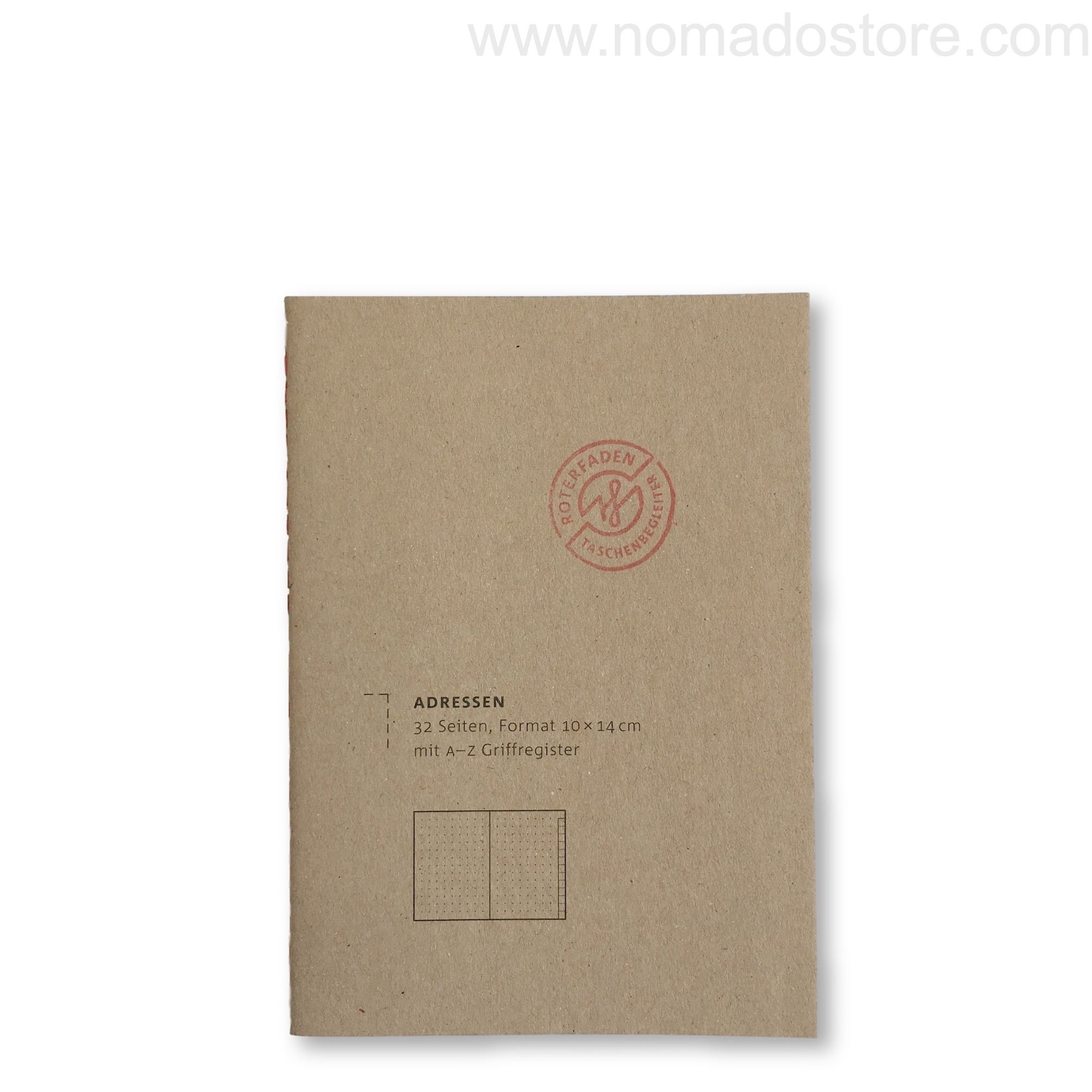 Roterfaden Smaller A6 Address Book (10x14cm) - NOMADO Store