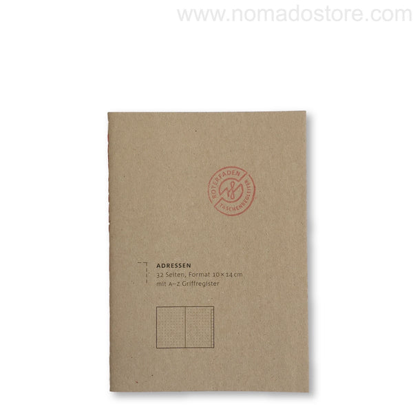 Roterfaden Smaller A6 Address Book (10x14cm)