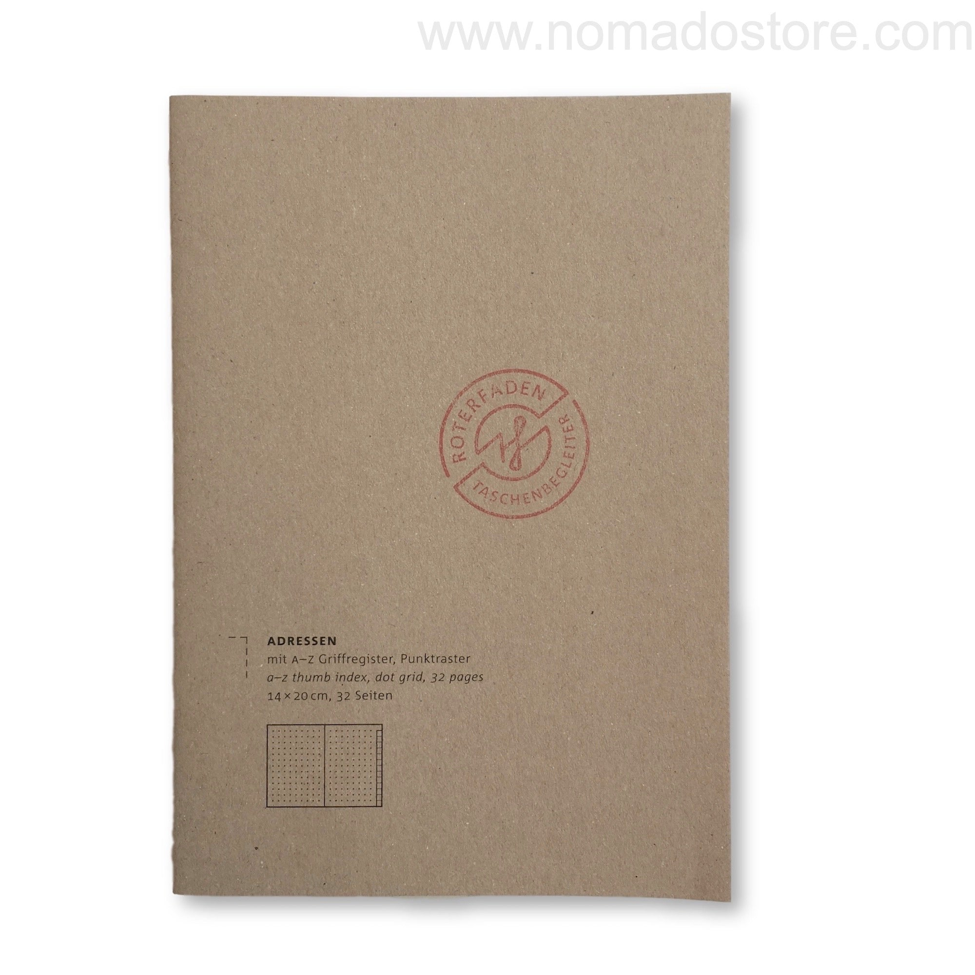 Roterfaden Smaller A5 Address Book (14x20cm) - NOMADO Store